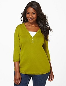 3-Button Sweater Duet by Catherines
