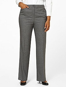 Mini Houndstooth Slimmer Pant by CATHERINES
