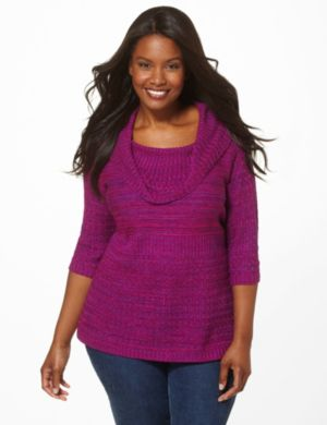Pattern Play Cowlneck Sweater