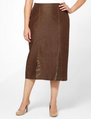 Nouveau Glitter Denim Skirt