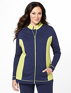 Colorblock Active Jacket by Catherines