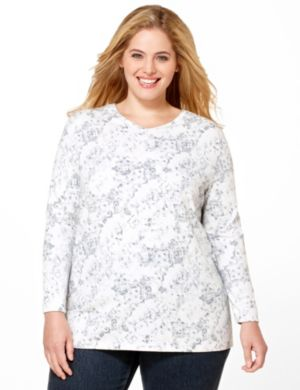 Floral Lace Long-Sleeve Tee