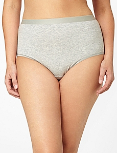 Solid Cotton Full Brief by CATHERINES