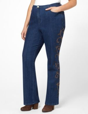 Studded Scroll Jean