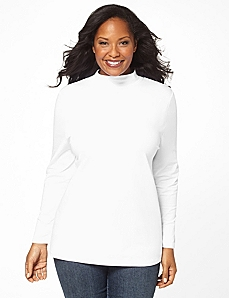 Suprema Mock Turtleneck Top