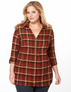 Metallic Plaid Shirt