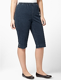 NOVELTY DENIM CAPRI