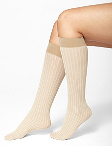 Cable Stripe Trouser Sock by Catherines