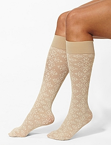 Floral Flourish Trouser Socks by Catherines