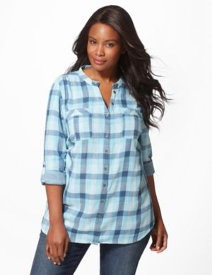 Plaid Shimmer Shirt