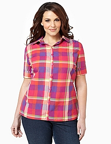Pop Of Plaid Shirt