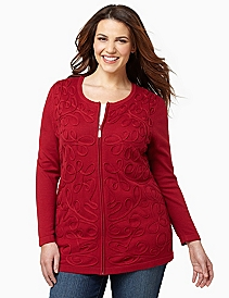 Soutache Zip Jacket