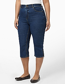 Slimmer Denim Capri