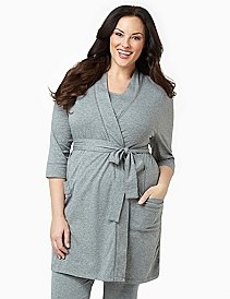 Tied Knit Lounge Robe