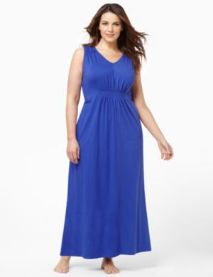 Smocked Lounge Maxi Dress
