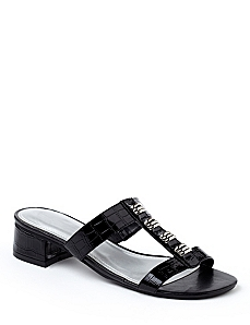 Crocodile Patent Sandals