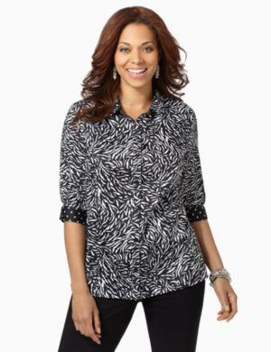 Zebra Sateen Shirt