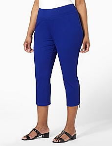 Cozy Zip-Hem Capri by CATHERINES