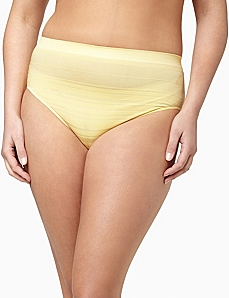 Serenada® Shadow Stripe Seamless Panty by CATHERINES
