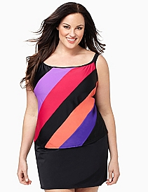 Colorblock Swim Tank