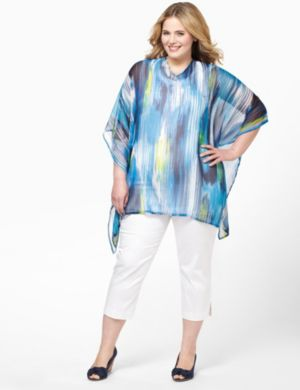 Color Streak Poncho