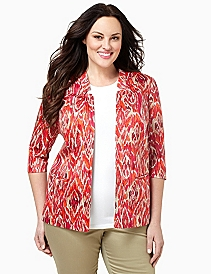 Ikat Print Sateen Jacket