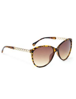 Metallic Twist Sunglasses