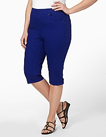 Timeless Fit Denim Capri