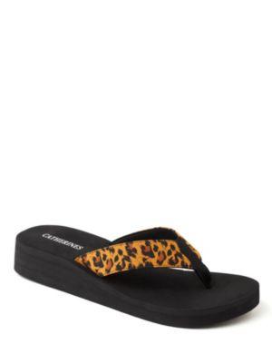 Leopard Embellished Flip-Flops