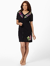 Mesh Embroidered Cover-Up
