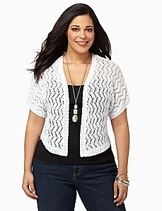Crochet Sequin Shrug