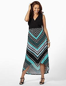 Hi-Low Stripe Maxi