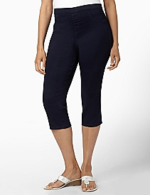 Pull-On Stretch Capri