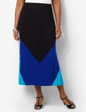 Colorblock Knit Skirt