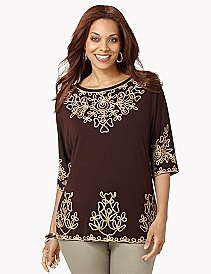 Soutache Shine Top