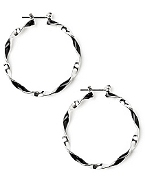 Midnight Oasis Hoop Earrings