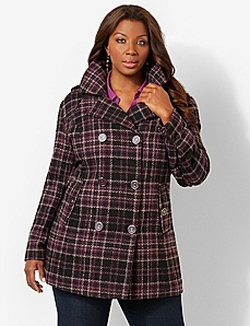 West Vail Plaid Peacoat