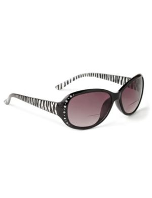 Sleek Stripe Sun Readers
