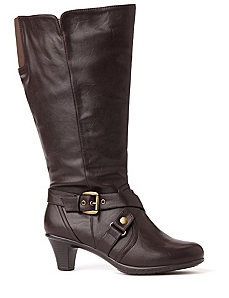 Mid-Calf Buckle Boot by CATHERINES