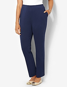 Suprema Essential Knit Pant by Catherines