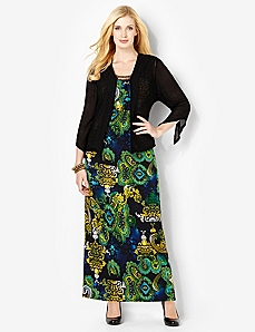 Soiree Maxi & Jacket by Catherines