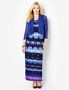 Tie-Dye Maxi & Jacket by Catherines