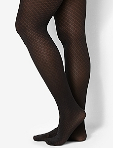 Diamond Control Top Tights by CATHERINES
