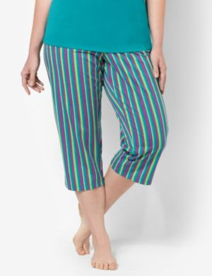 Stripe Sleep Capri