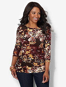 Fall Foliage Top by CATHERINES