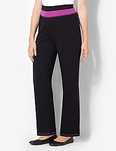 Color Waistband Yoga Pant by CATHERINES