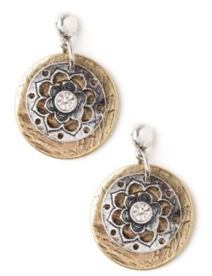 Floral Coin Earrings