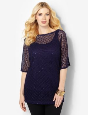 AnyWear Sequin Duet Top