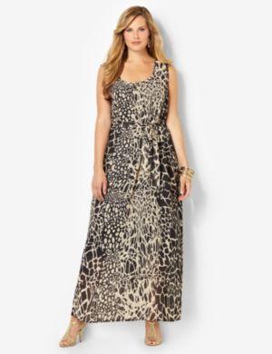 Animal Motif Maxi Dress