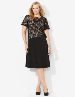 Cinched Lace Dress